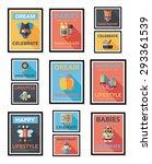baby poster flat banner design...   Shutterstock . vector #293361539