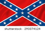 us confederate flag background... | Shutterstock . vector #293374124