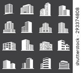 vector town and building icon... | Shutterstock .eps vector #293374808