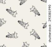xylophone doodle seamless... | Shutterstock . vector #293381990