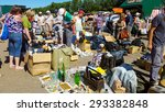 moscow   july 04  people buy... | Shutterstock . vector #293382848