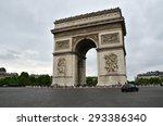 arc de triomphe in paris  france | Shutterstock . vector #293386340
