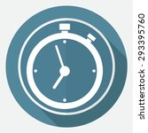 clock icon on white circle with ... | Shutterstock . vector #293395760