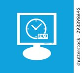 icon with clock and text 24 per ...