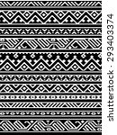 geometric aztec black and white ... | Shutterstock .eps vector #293403374