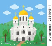 Orthodox Church With Gold Dome...