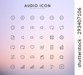 audio and music line icons on... | Shutterstock .eps vector #293407106