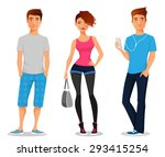 Cartoon Illustration Of Young...