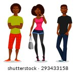 cartoon illustration of young... | Shutterstock .eps vector #293433158