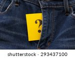 yellow paper note with question ... | Shutterstock . vector #293437100