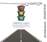 Traffic signal on a white background. Vector Illustration