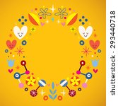 nature abstract art circle...   Shutterstock .eps vector #293440718
