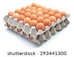 Eggs Carton On A White...