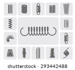 flexible metal spiral springs... | Shutterstock .eps vector #293442488