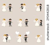 a set of collection of wedding... | Shutterstock .eps vector #293442818