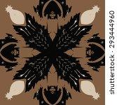 circular seamless  pattern of... | Shutterstock . vector #293444960