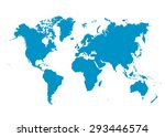 world map vector with fresh... | Shutterstock .eps vector #293446574