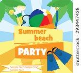 summer beach party poster...   Shutterstock .eps vector #293447438