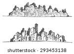 cityscape vector illustration... | Shutterstock .eps vector #293453138