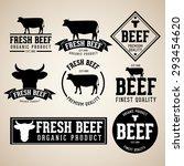 vector set of beef labels ... | Shutterstock .eps vector #293454620