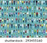 multiethnic casual people... | Shutterstock . vector #293455160