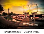 Silhouette Of A Wine Glass On...