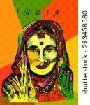 indian woman   Shutterstock .eps vector #293458580
