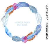 Watercolor Wreath   Can Be Use...