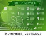 truck service  repair...   Shutterstock .eps vector #293463023