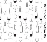 vector pattern of wine bottles... | Shutterstock .eps vector #293463350