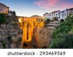 ronda  spain at the puente... | Shutterstock . vector #293469569