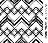 black and white geometric... | Shutterstock .eps vector #293470970