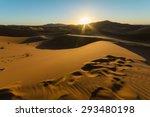 sunrise over golden sahara... | Shutterstock . vector #293480198