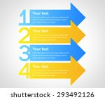 business infographics tabs... | Shutterstock .eps vector #293492126