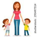 cute cartoon illustration of... | Shutterstock .eps vector #293497514