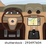car salon. vector flat... | Shutterstock .eps vector #293497604