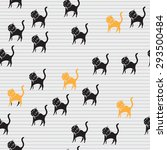 black cats seamless pattern....   Shutterstock .eps vector #293500484