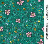 seamless floral pattern. vector ... | Shutterstock .eps vector #293503958
