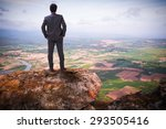 Businessman Standing On Top Of...