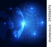 vector digital global...   Shutterstock .eps vector #293506376