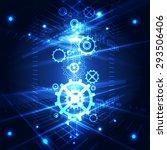 vector abstract engineering... | Shutterstock .eps vector #293506406