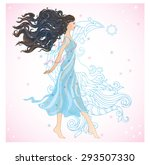 vector illustration of pretty... | Shutterstock .eps vector #293507330