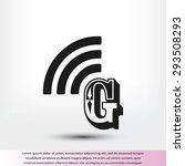 letter g  icon  | Shutterstock .eps vector #293508293