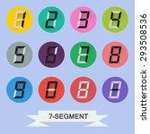 set of digital alphabet of... | Shutterstock .eps vector #293508536