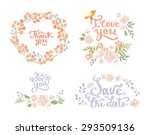 wedding graphic set  wreath ... | Shutterstock .eps vector #293509136