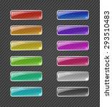 set of colored transparent... | Shutterstock .eps vector #293510483