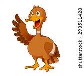 image of a cartoon greeting duck | Shutterstock . vector #293511428