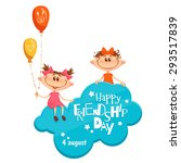 banner with friendship day... | Shutterstock .eps vector #293517839