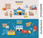 warehousing and logistic and... | Shutterstock .eps vector #293520098