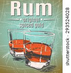 rum was pour in two glasses... | Shutterstock .eps vector #293524028